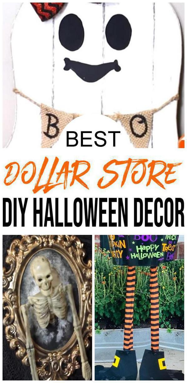 DIY Dollar Store Halloween Decorations Ideas & Hacks