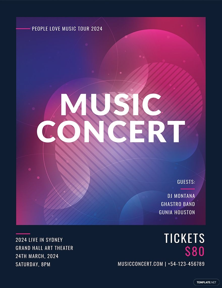 Free Music Concert Poster Template Psd Apple Mac Pages Illustrator In 2020 Music Concert Posters Concert Posters Music Concert