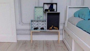 etapes 1h peindre les boites en bois directement sans sous couche car le bois est brut. Black Bedroom Furniture Sets. Home Design Ideas