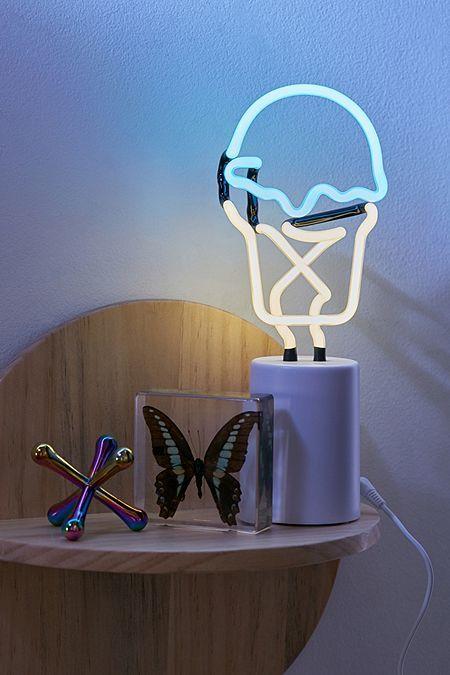 Neon Table Light: Sunnylife Mini Ice Cream Neon Sign Table Lamp In 2020