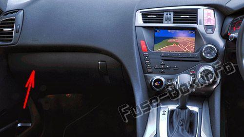 Citroën DS5 (2011-2018) < Fuse Box location   Citroën DS5 ... on