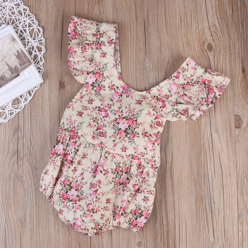 UK Newborn Baby Girl Clothes Romper Bodysuit Jumpsuit Outfit One-Pieces Summer