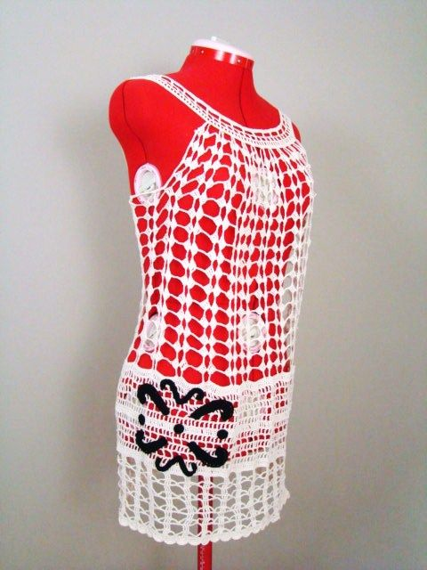 Crochet a sweet swim suit cover up using our free pattern, from ...
