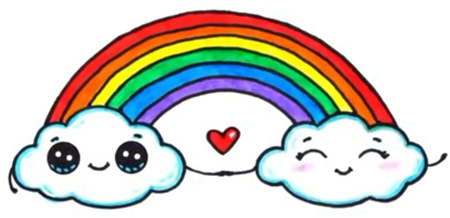 Clouds Rainbow Rainbow Pictures Cute Kawaii Drawings