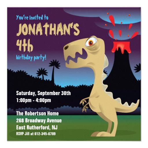 T-Rex Birthday Invitation