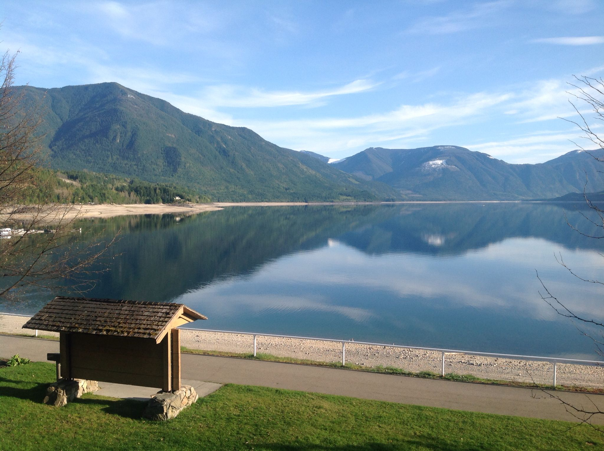 Taken From The Patio At Leland Hotel In Nakusp Bc