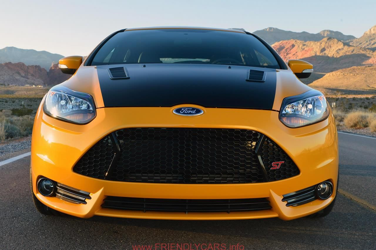 Nice Ford Focus St Yellow Car Images Hd Front Yellow Color Shelby