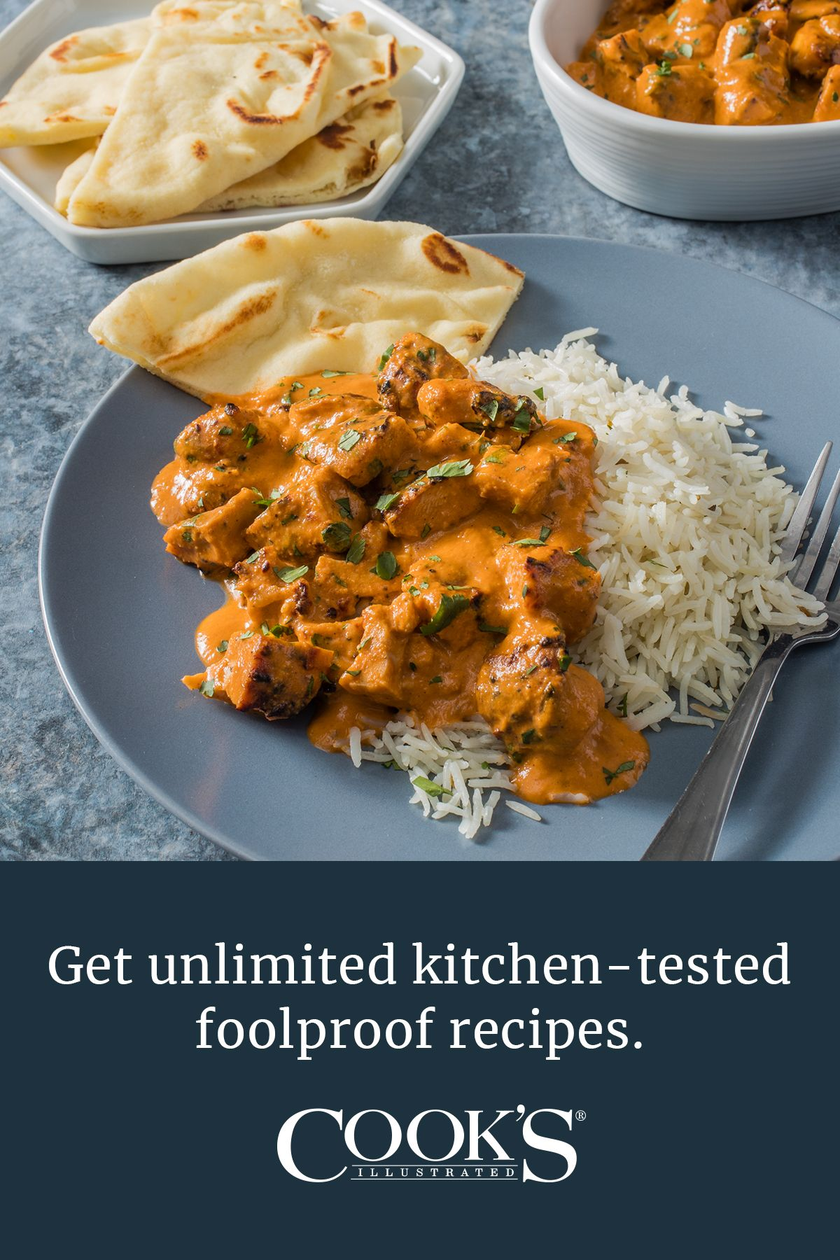 Murgh Makhani Indian Butter Chicken Cook S Illustrated Recipe Cooks Illustrated Butter Chicken Recipe Indian Recipes