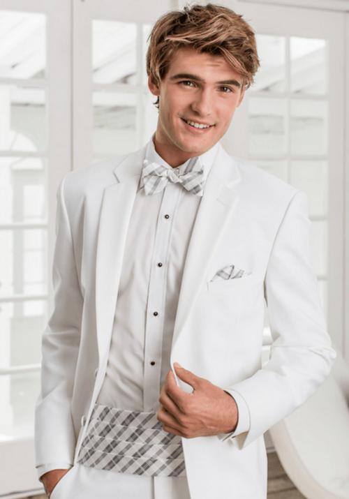 White Modern Essentials Tuxedo by Jean Yves | Tuxedo rental prices ...