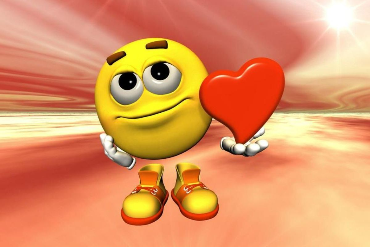 Free Wallpaper of love emoticons Download - Free Wallpaper