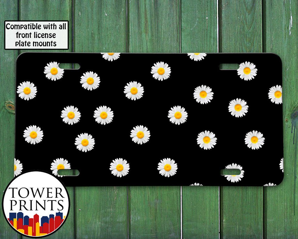 Daisy Flower Pattern Tumblr Inspired Black Cute For Front License ...