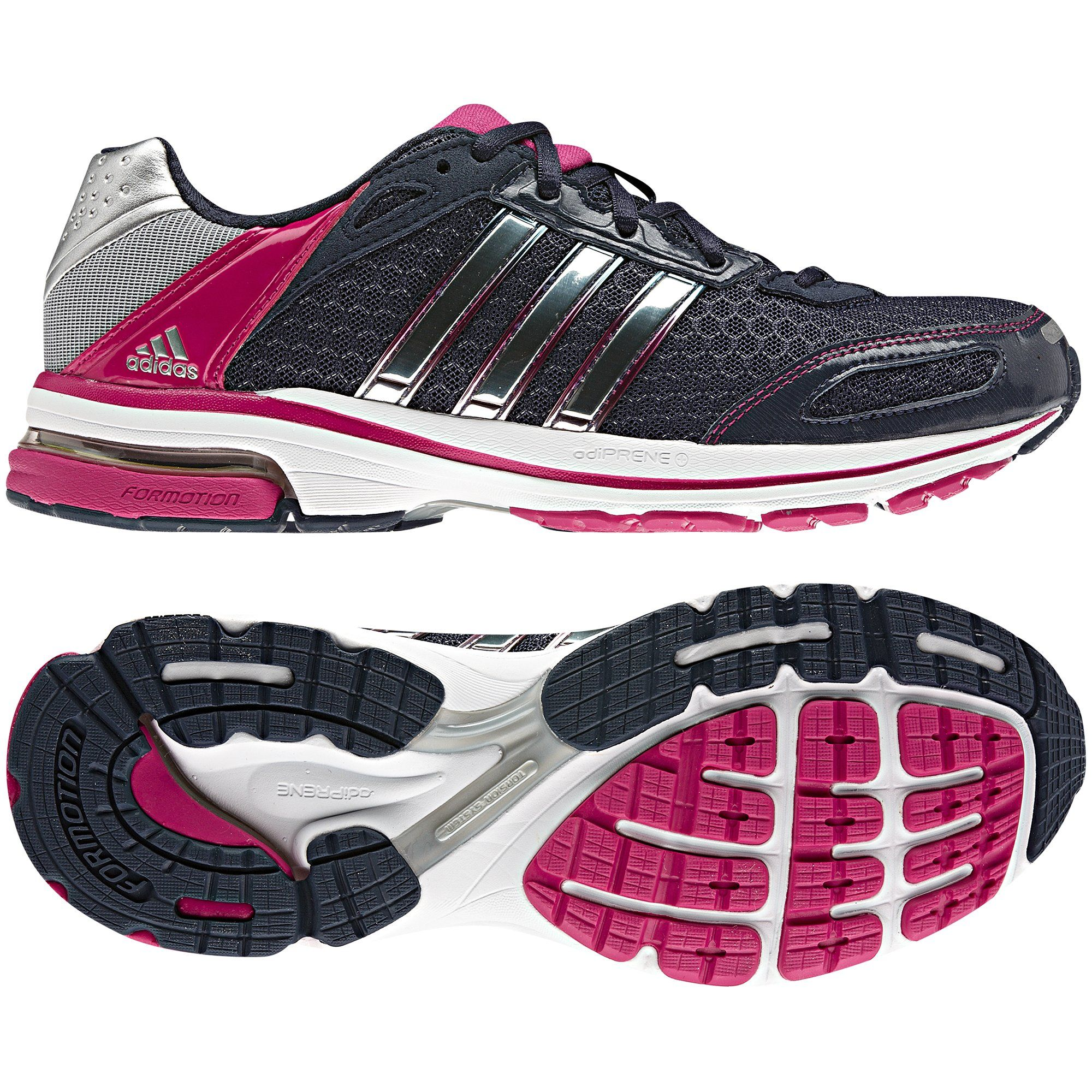 Dames Supernova Glide 4 Shoes, Urban Sky / Bright Pink ...