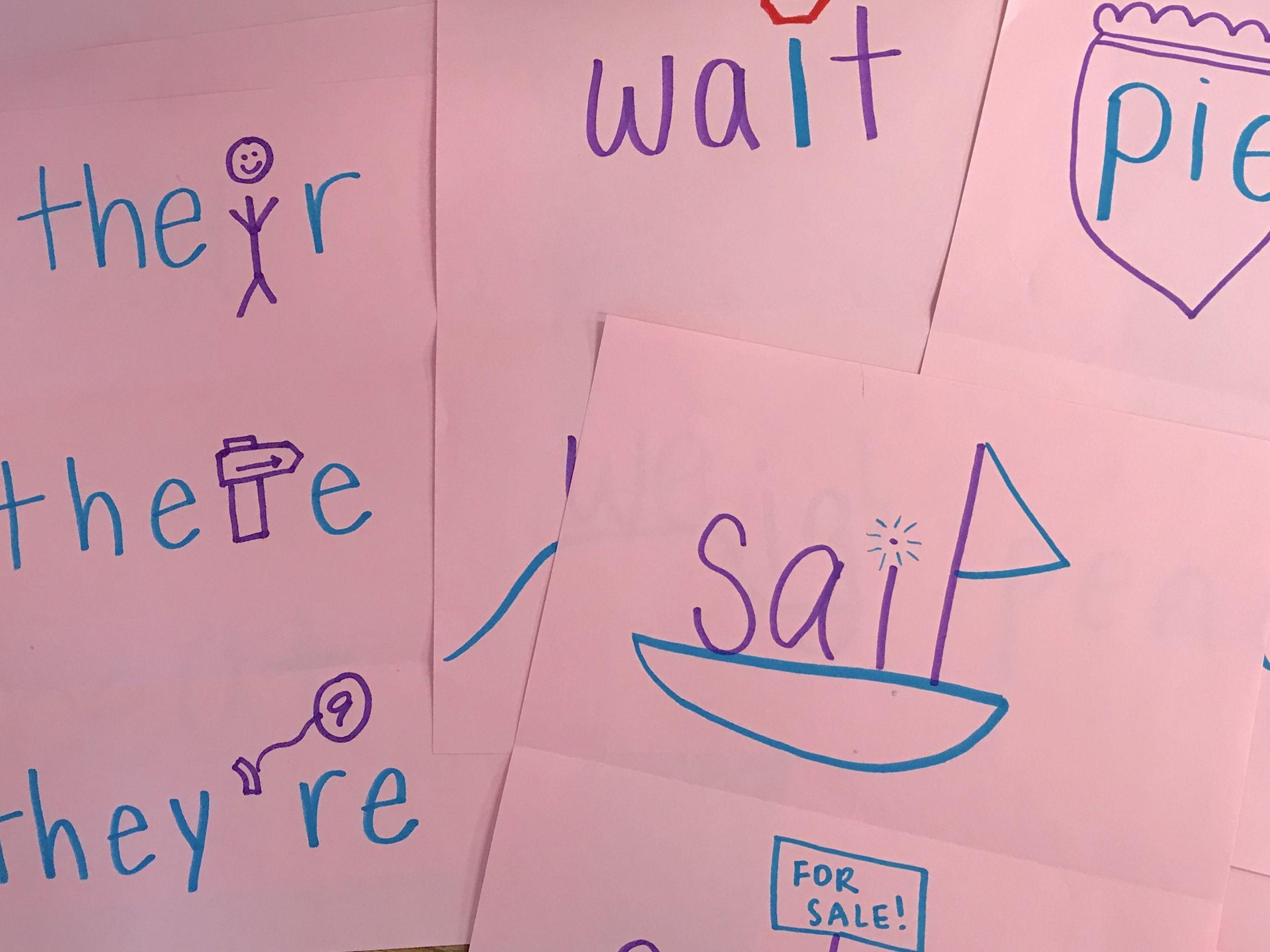 Homophones Spelling Words