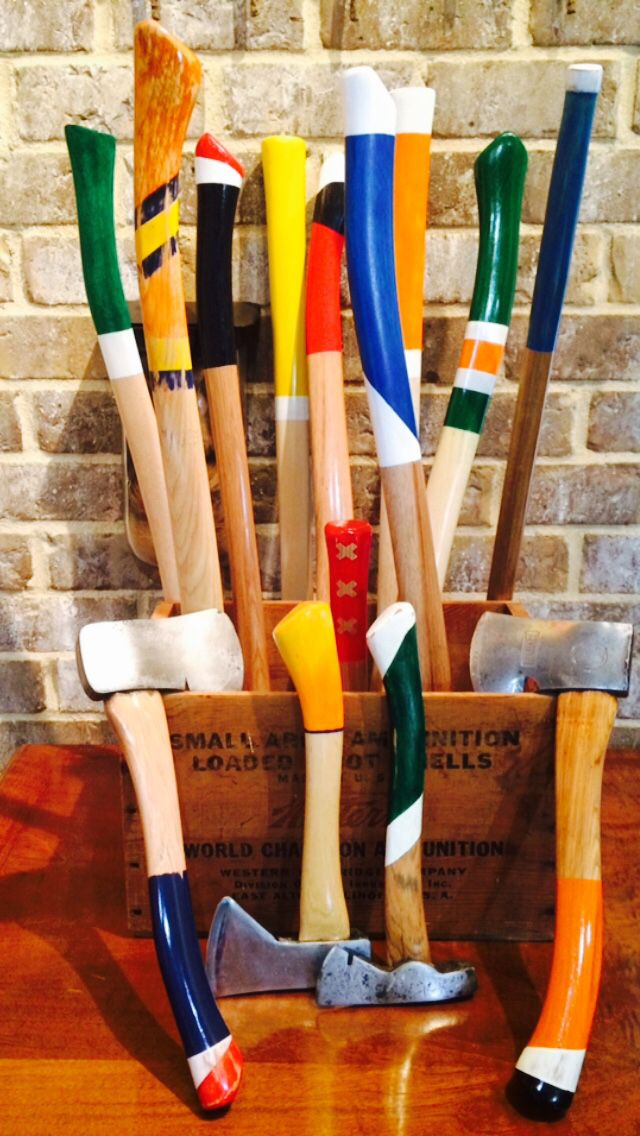 Diy Painted Handles On Axes And Hatchets Axe Axe Handle Axes And Hatchets