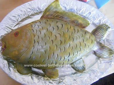 Coolest Fish Birthday Cake Idea Butter The two and Homemade