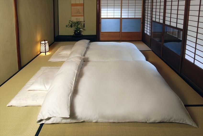 traditional japanese double futon bed   interiors   pinterest   double futon traditional japanese and japanese traditional japanese double futon bed   interiors   pinterest      rh   pinterest