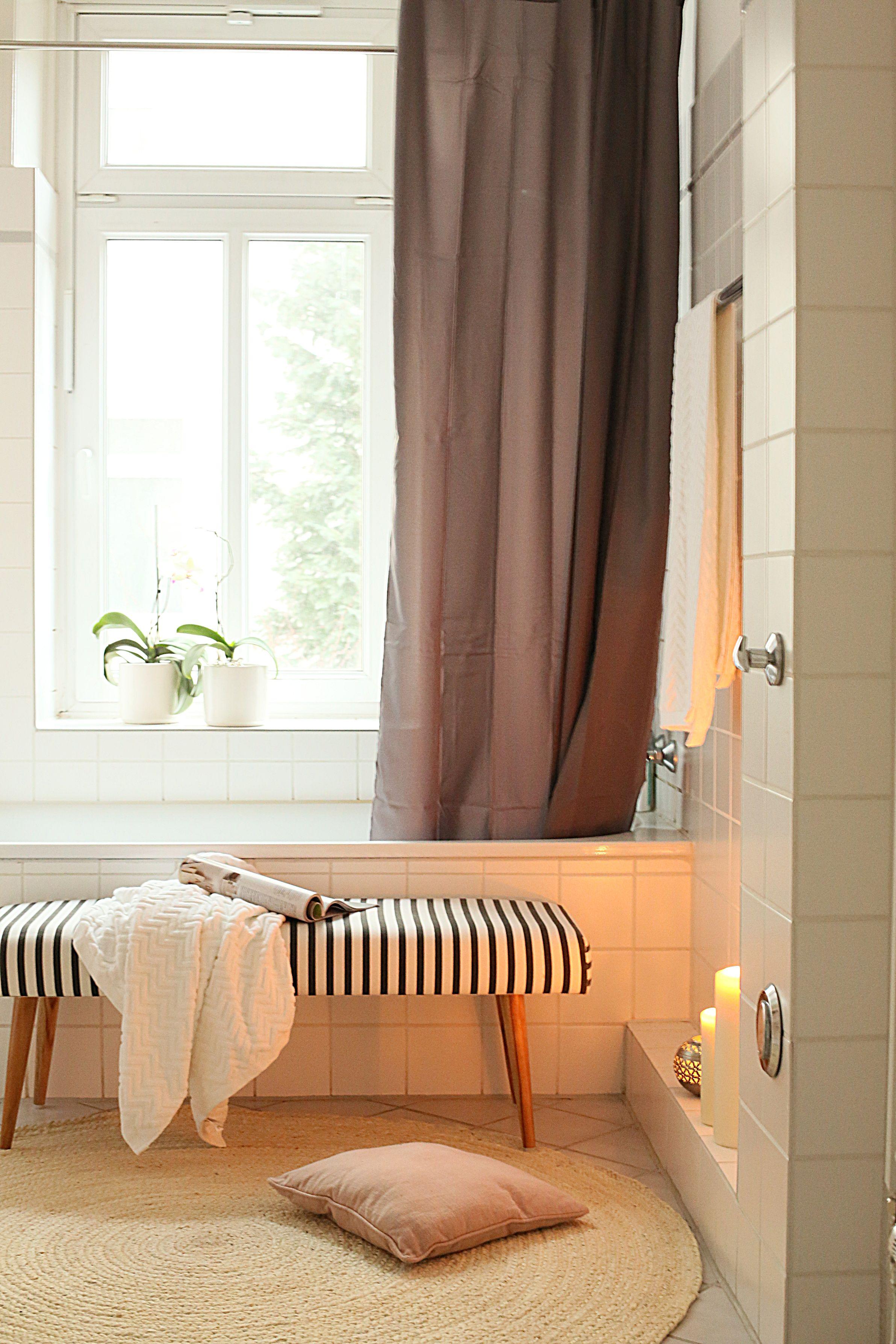 Bad Badezimmer Altbau House Doctor Ikea Bathroom Interior Wohnen Badewanne Kerzen Cozy Duschvorhang Bank Sitzbank Sch Wohnen Haus Deko Interieur
