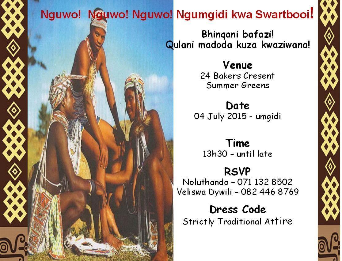 Invitation Umgidi Images Invitation Sample And