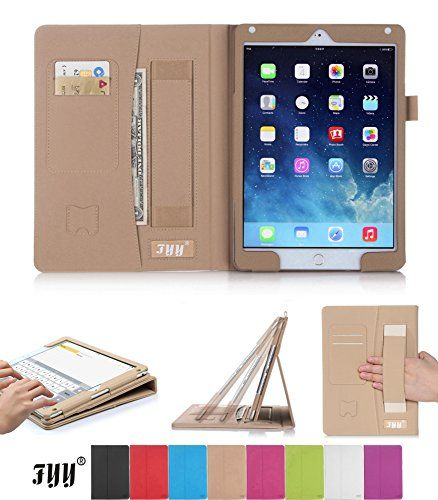 Luxurious Protection Ipad Air 2 Case Fyy Premium Pu Leather Case Smart Auto Wake Sleep Cover With Velcro Hand Strap Ca Ipad Air 2 Cases Smart Auto Ipad Air 2