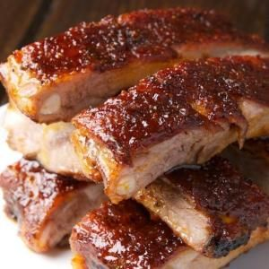 St Louis Ribs with Maple BBQ Sauce by lidegaga
