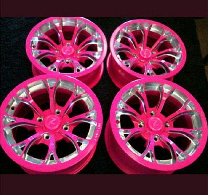 Pink rims | MIssiemobile | Pink car accessories, Pink rims ...