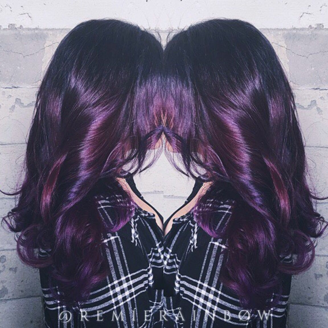 Mixed berries plum violet wild orchid purple hair colormelt and
