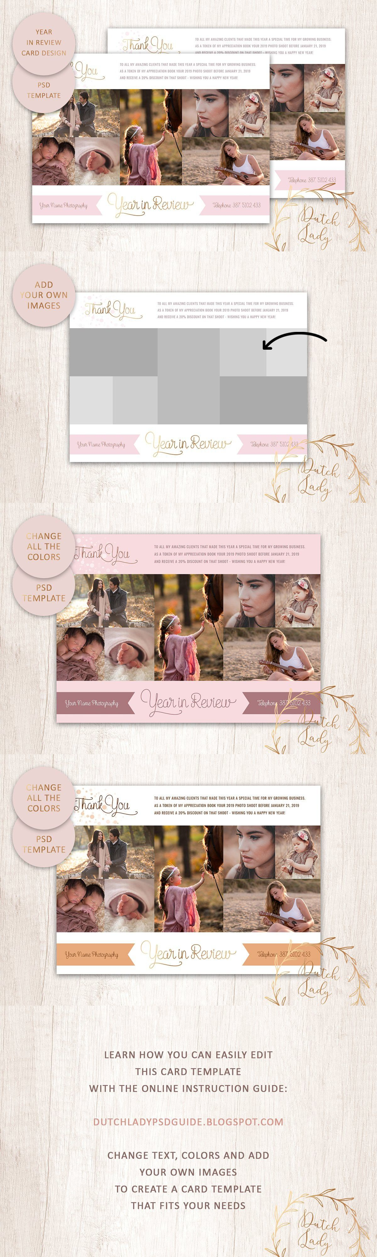 Psd Year In Review Card Template 4 Card Template Graphic Design Company Card Design