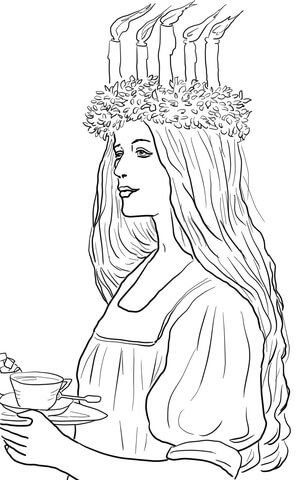 Pin By J Mak On Santa Lucia St Lucy St Lucia Day Coloring Pages Pattern Coloring Pages