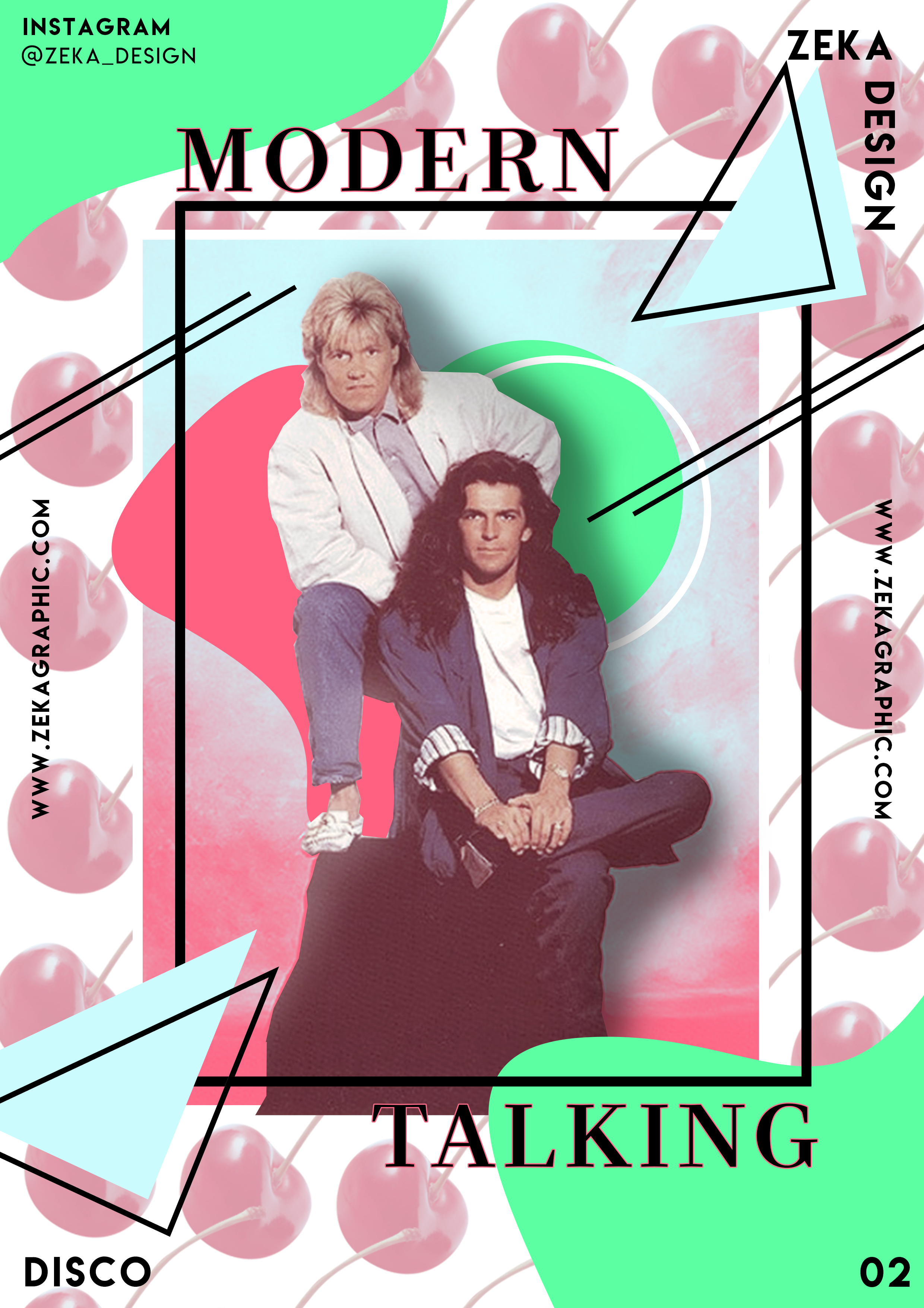 Disco Modern Talking Poster Design Poster Design Layout