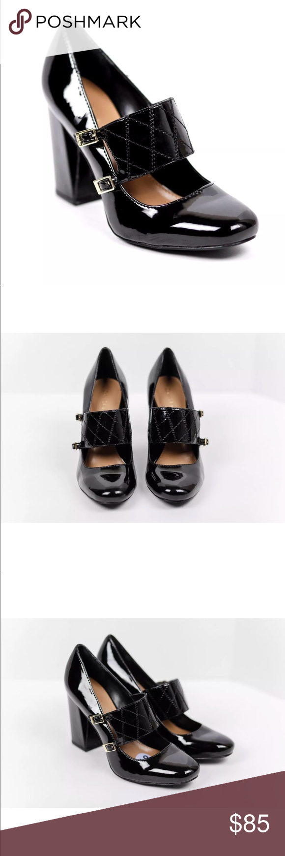 31ff2eb96d36 NEW Calvin Klein Casilla Mary Jane Black Pump Heel Calvin Klein Women s  Casilla Closed Toe Mary Jane Black Leather Pumps Heels 10.