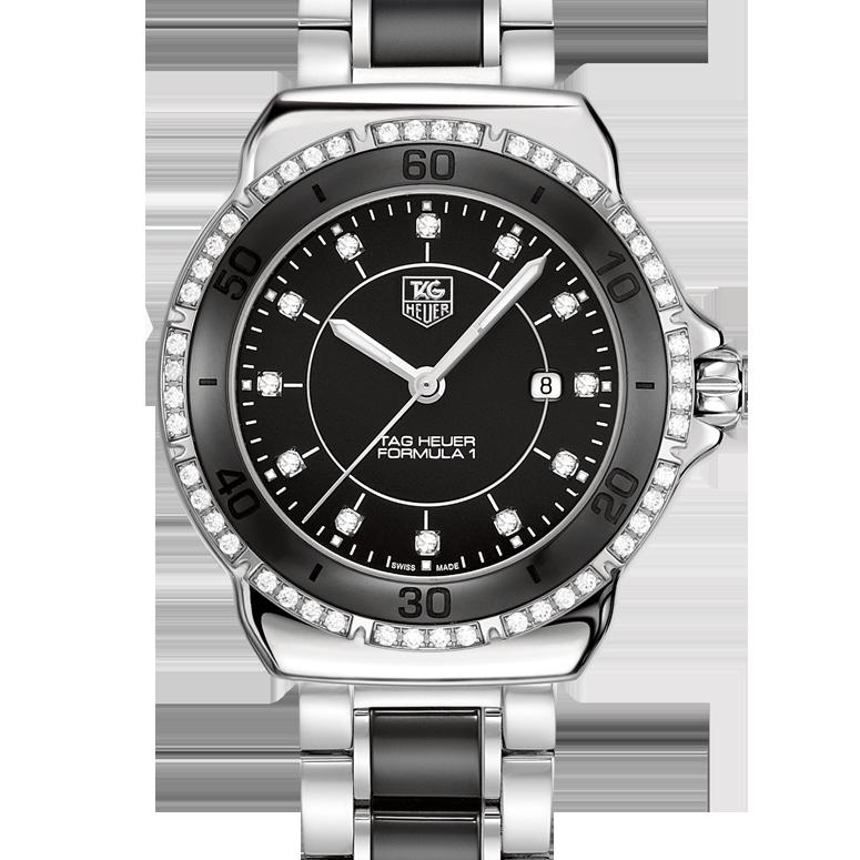 25cfc41b930 TAG Heuer TAG Heuer FORMULA 1 Steel and Ceramic Diamonds32 mm WAH1312.BA0867   TagHeuer