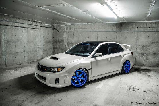 White Subaru WRX STi with blue wheels   Wrx, Subaru, Subaru wrxPinterest