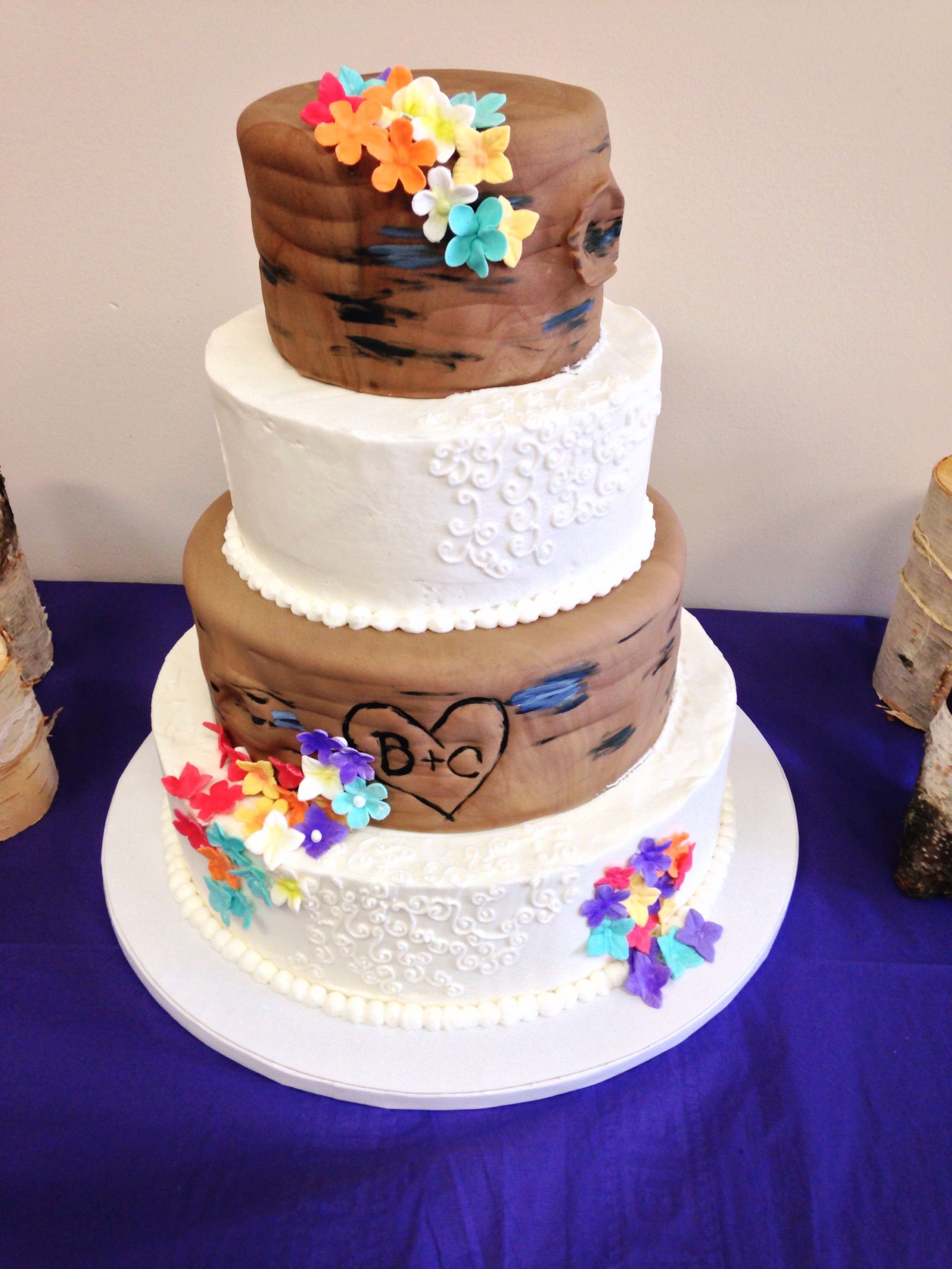 Rustic Wedding Cake, by Amy Hart