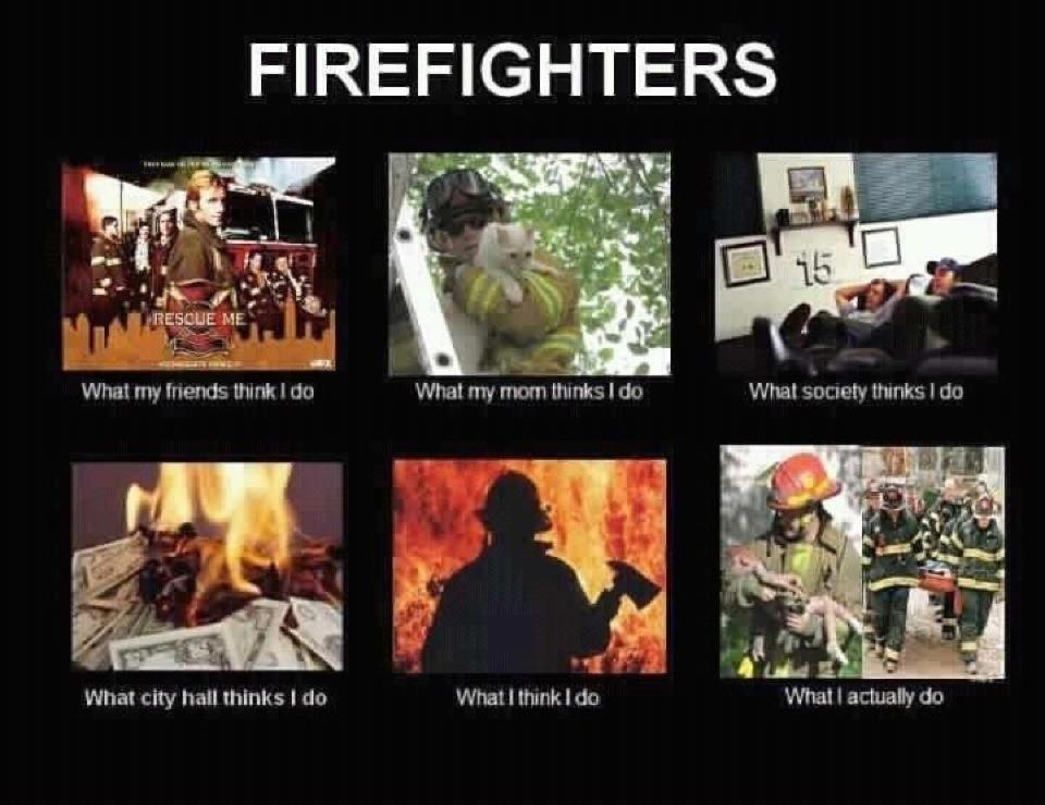 The job description of a firefighter as seen through the