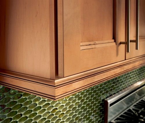 Kitchen Cabinets Moulding: Waypoint Inset Light Rail Molding In Maple Coffee Glaze