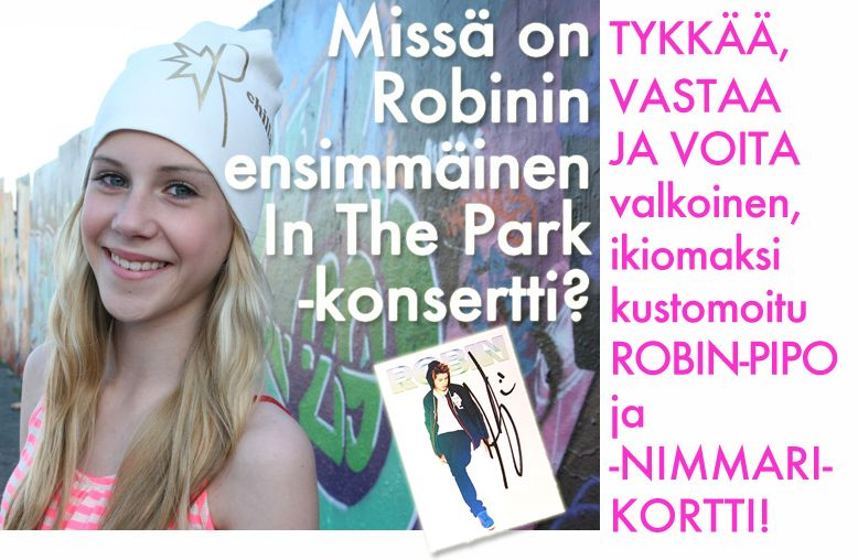 TYKKÄÄ, VASTAA JA VOITA valkoinen, ikiomaksi kustomoitu ROBIN-PIPO ja -NIMMARIKORTTI! https://www.facebook.com/mewe.fi/app_208195102528120