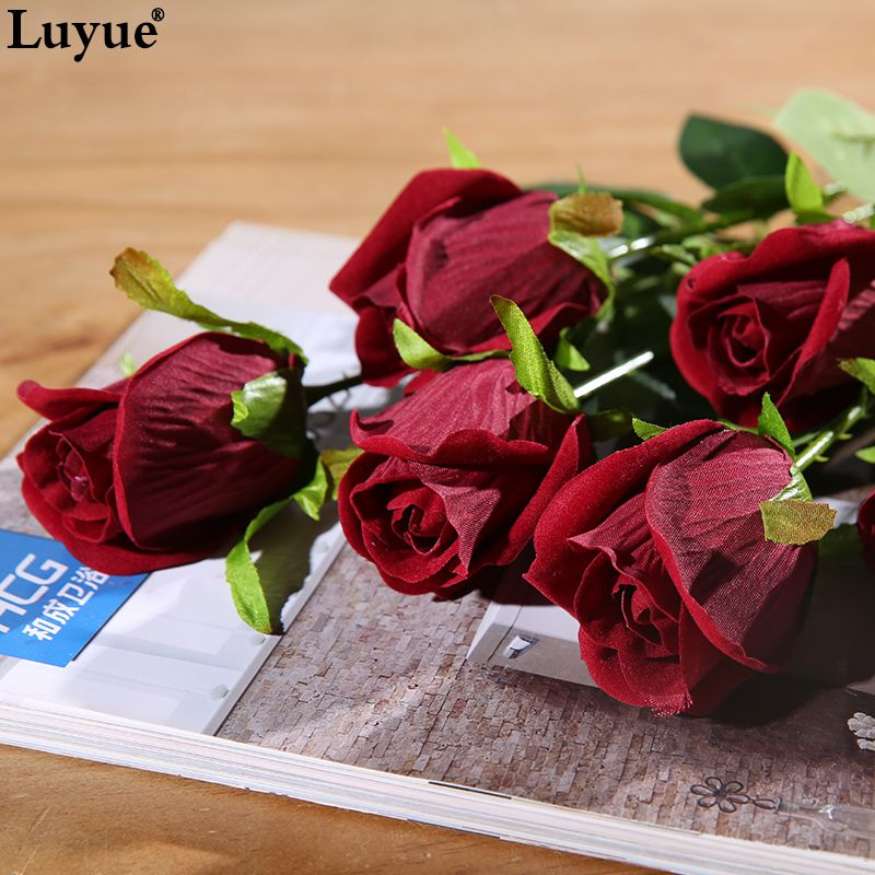 Aliexpress.com: Acheter 10 pcs/lot Soie Artificielle Rose Fleurs pour le Mariage Décoratif Fleurs Parti Home decor de fleur en soie de mariage bouquets fiable fournisseurs sur luyue artificial plants