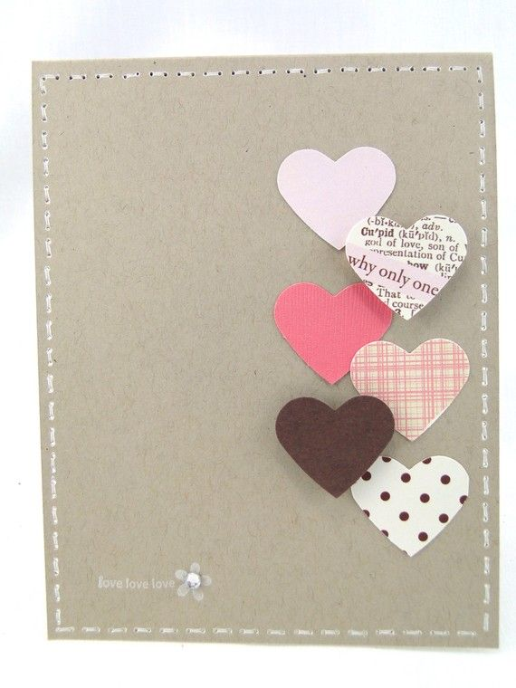 Valentine's day greeting card- Hearts on Parade