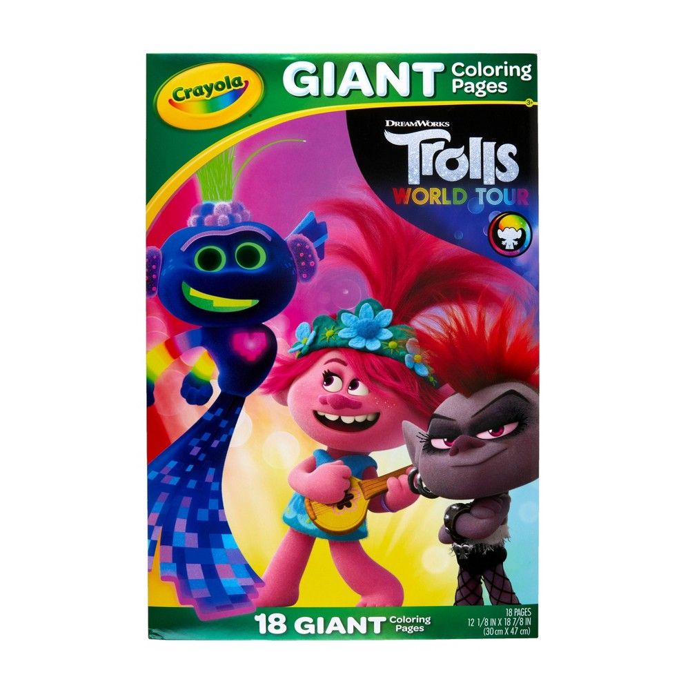 Crayola Giant Coloring Pages Trolls 2 In 2020 Coloring Pages Kids Coloring Books Kids Art Supplies