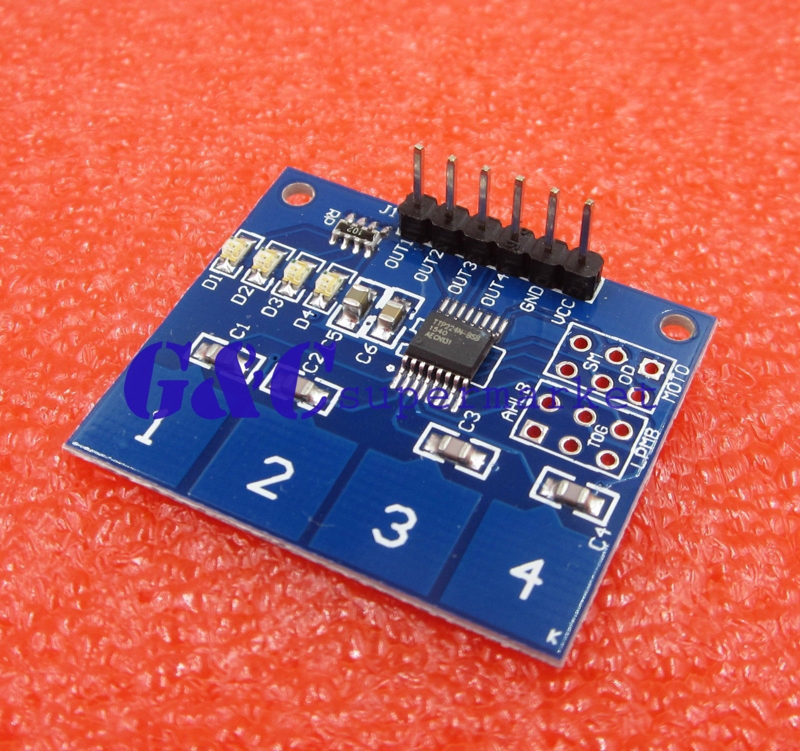 218 2pcs Ttp224 4 Channel Digital Touch Sensor Module Capacitive Switch Modulein Integrated Circuits M61 Ebay Electronics