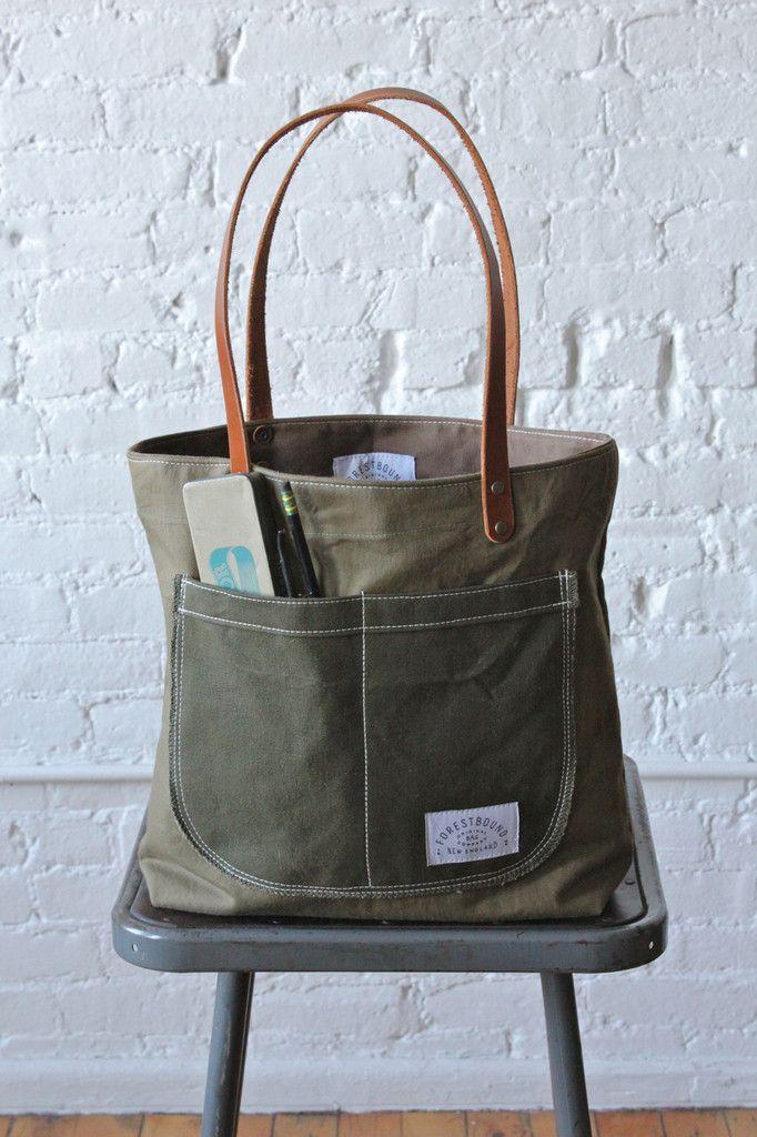 3772fd886b WWII era Military Canvas Pocket Tote Bag