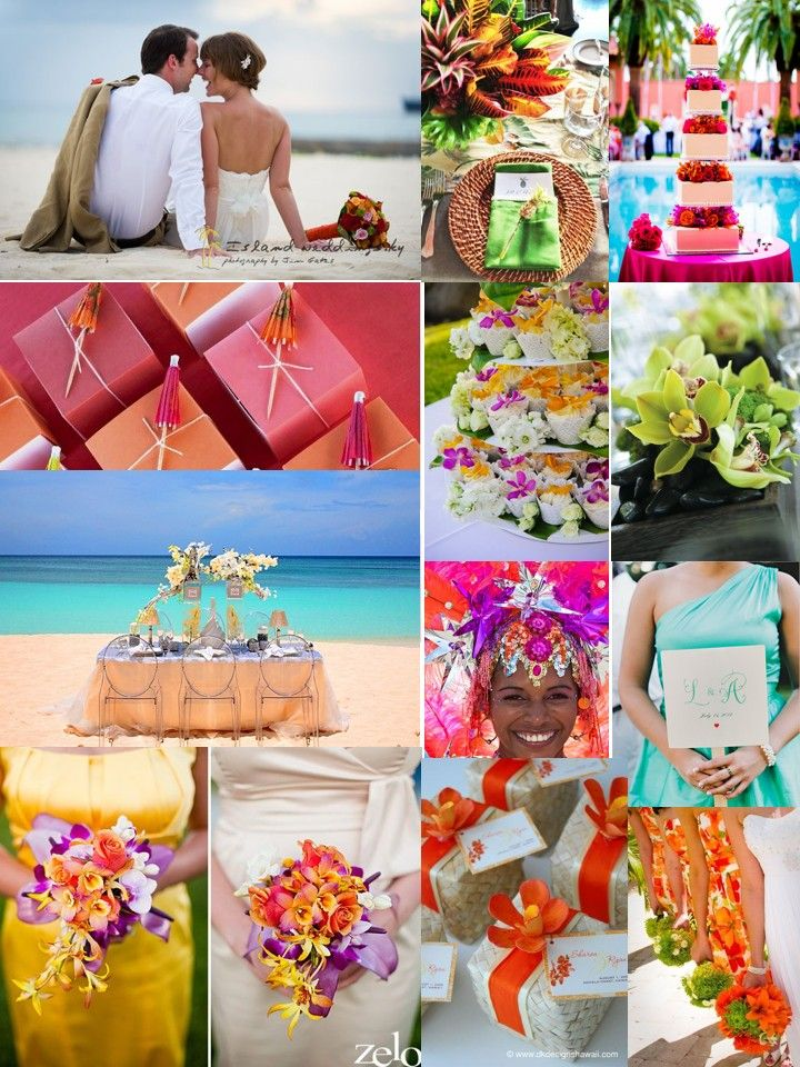 Tropical Themed Weddings Google Search