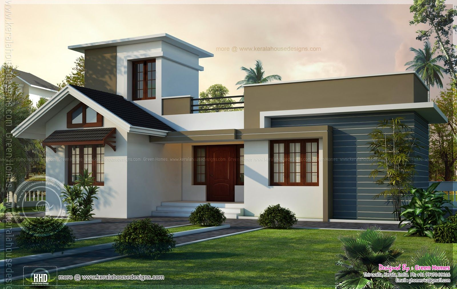 Small House With Stair Room Small House Design Kerala Small House Design Small House