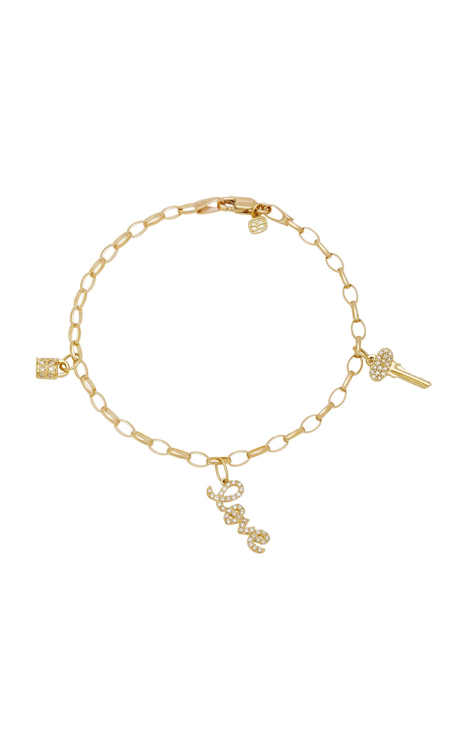 love charm bracelet by sydney evan for preorder on moda operandi