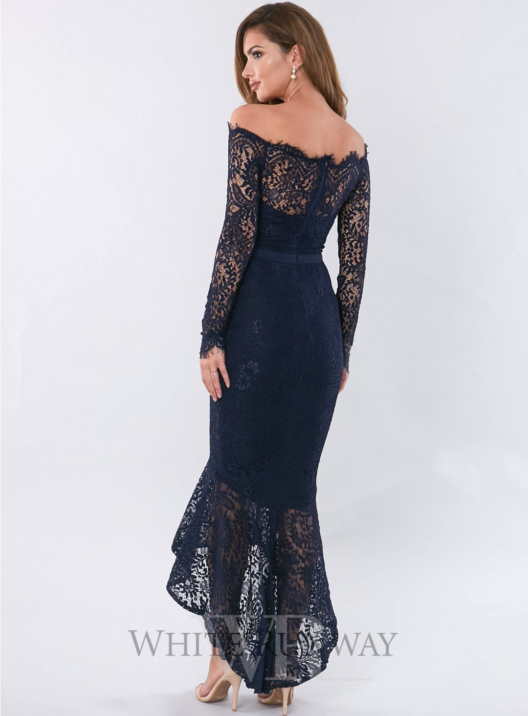 Long illusion lace dress marchesa