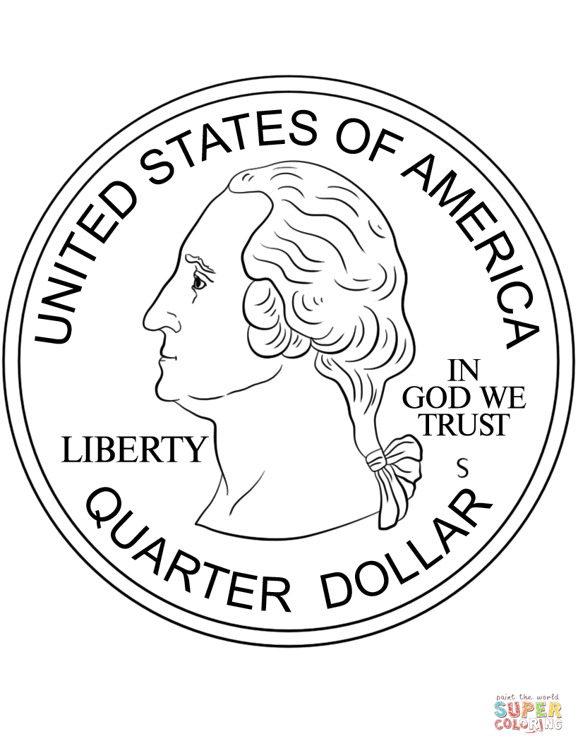 Quarter Coin Super Coloring Coloring Pages Free Printable Coloring Pages Free Printable Coloring