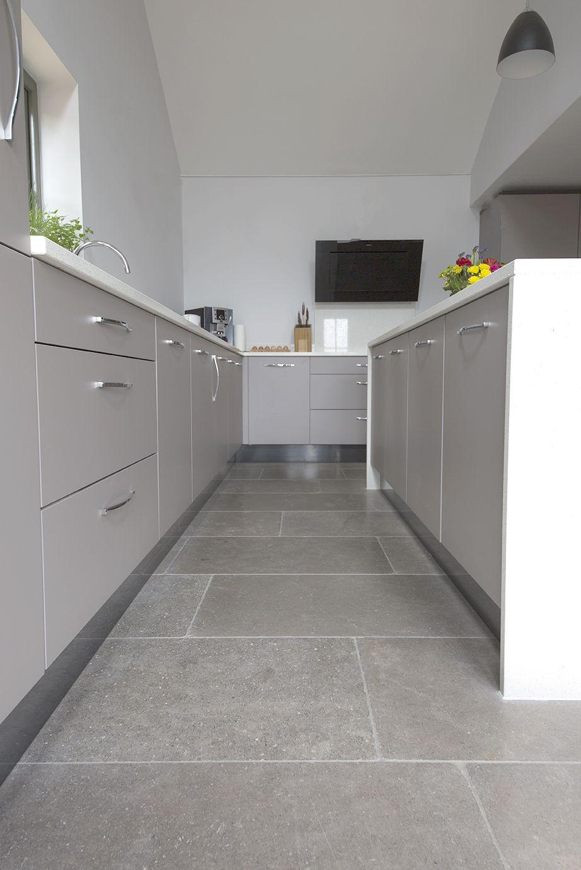 Farrow Grey Tumbled Limestone Tiles Mystonefloor Grey Tile Kitchen Floor Grey Kitchen Floor House Flooring
