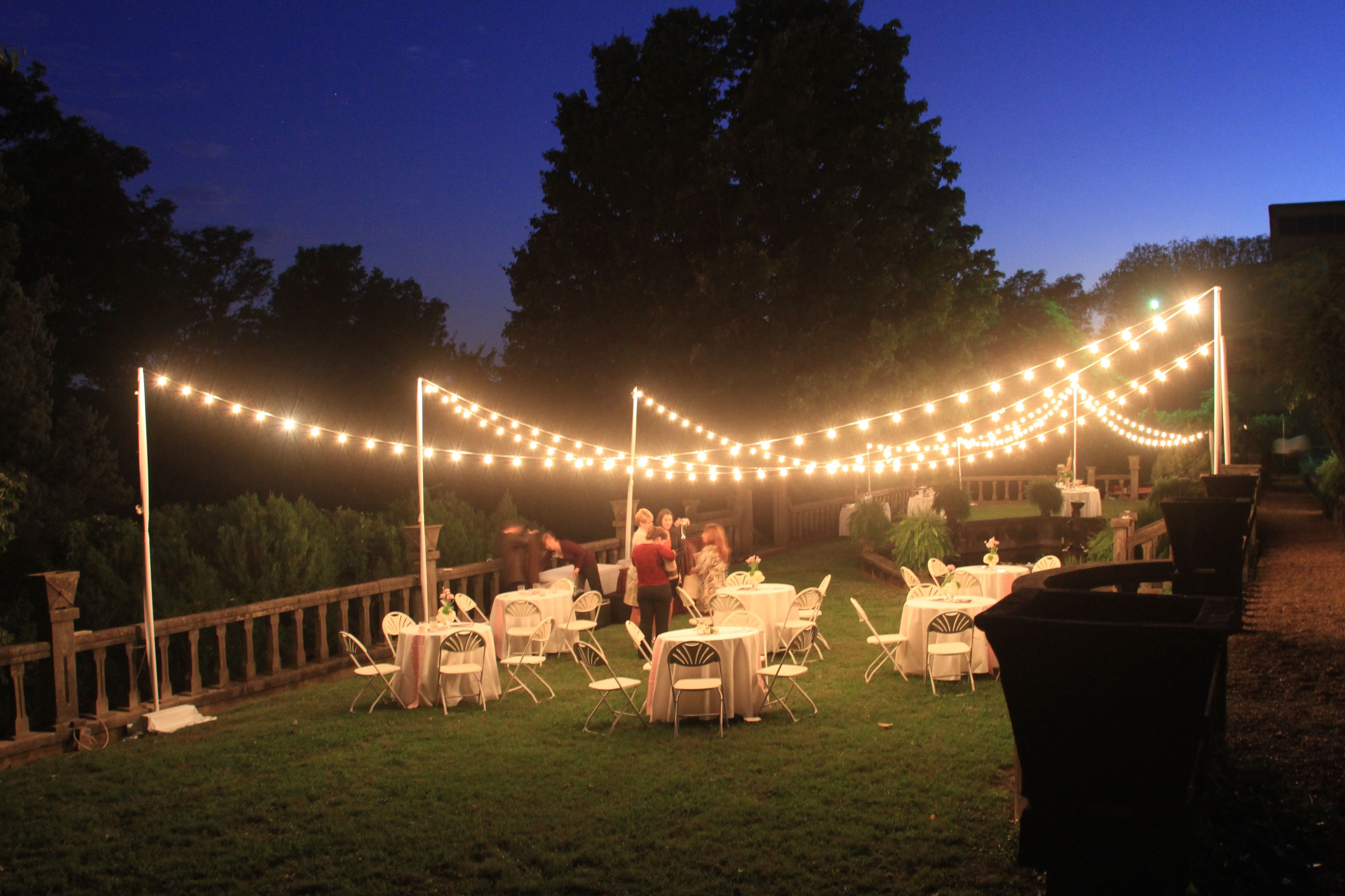 Simple But Effective Outdoor Reception Lighting Idea Weddingideas Outdoor Wedding Lighting Diy Wedding Lighting Diy Outdoor Weddings