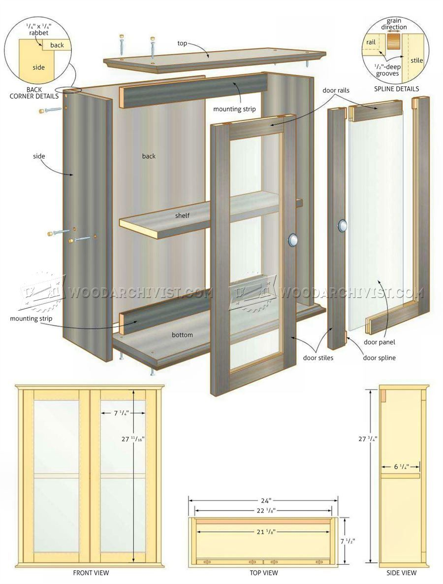 Bathroom Vanity Design Plans Adorable 2413 Bathroom Wall Cabinet Plans  Furniture Plans  Woodworking 2018