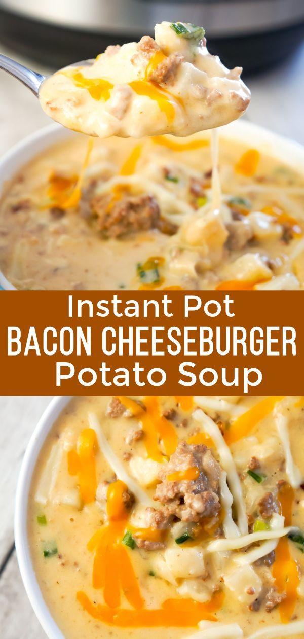 Instant-Pot Speck-Cheeseburger-Suppe mit Kartoffeln - das ist nicht Diät-Nahrung